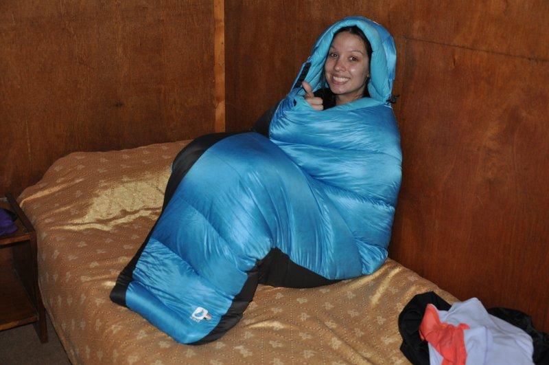 Sarah's warm sleeping bag