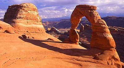 Delicate Arch one of the most popular natural arches, Arches National Park, Utah