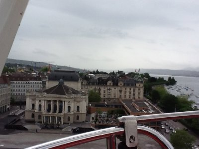 view from ferris wheel