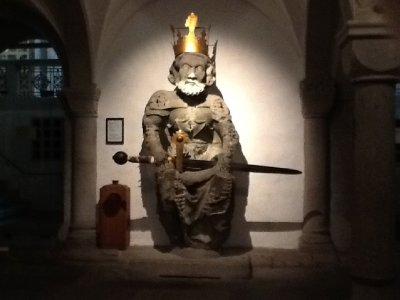 walking around zurich - wasn't allowed to take photos in this church, but i snagged one without the flash on