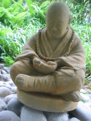 Buddha statue outside my window where i stayed