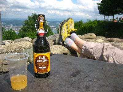 ridge line hike at the top with some apfelwein (hard apple cider)