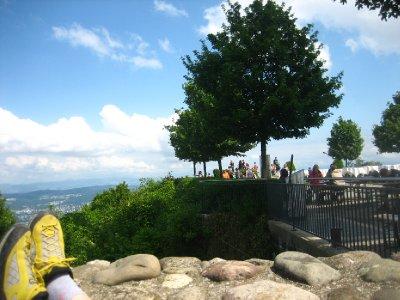 ridge line hike at the top