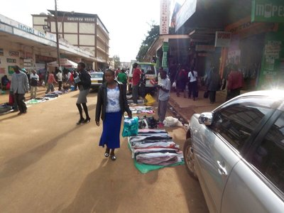 Sidewalk Shopping in downtown Eldoret