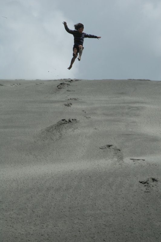 Jumping with pure joy