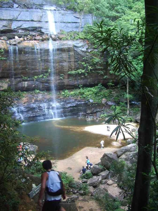 The bottom of Wentworth Falls