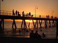 Sunset on Glenelg beach