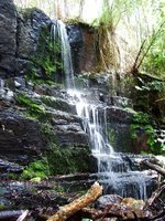 Waterfall on the track