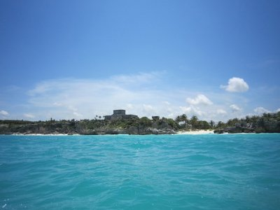 A view of the ruins from the sea