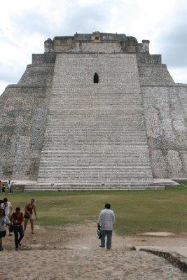 The main pyramid in Uxmal