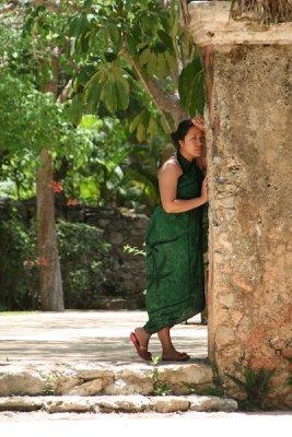 My dear wife inside the Hacienda