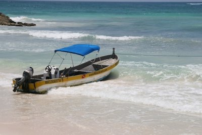 Our boat for snorkelling at the reefs