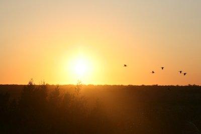 Sunset over Yucatan