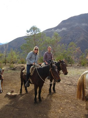 The lone horseback riders!