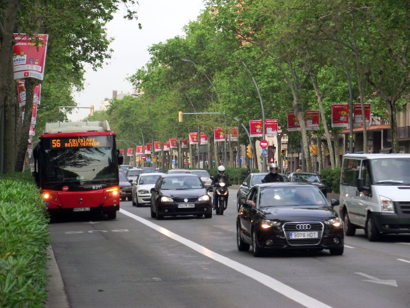 Espanha, Barcelona - Gran Via de Les Corts Catalanes
