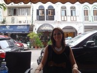 Enjoying a meal at Cafe Le Caire