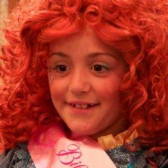 Bella in Merida costume