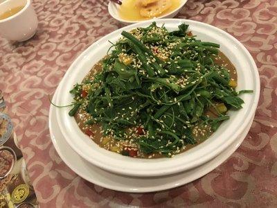 芝麻醬拌菠菜/野菜