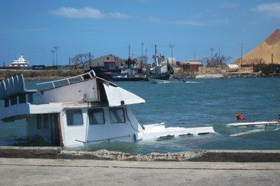 Ship sank by Typhoon