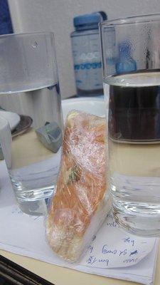 用熱水番熱三文治