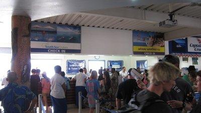 Check-in counter in Port Denarau