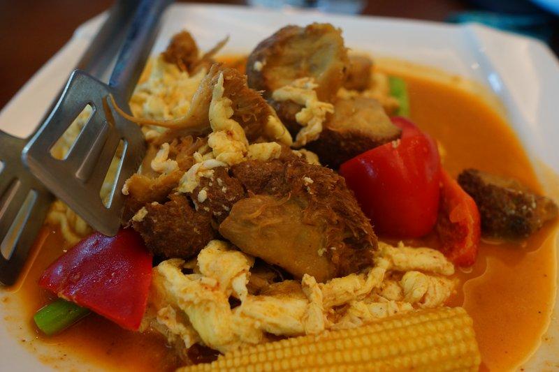 泰式芙蓉猴菇 這餐廳的猴頭菇真不錯,有咬口、但又不難嚼。