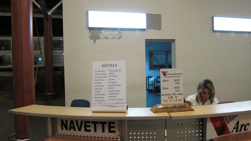 Counter for buy shuttle ticket