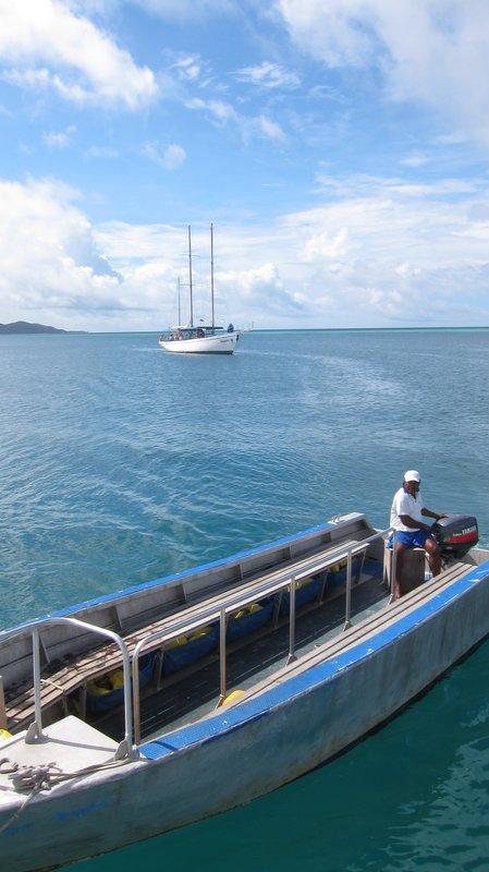 Boat transit to Seaspray