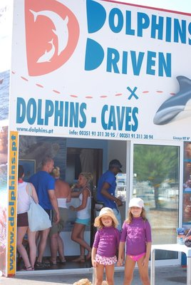 Albufeira, dolphin trip, unpromising name but a fantastic experience for all