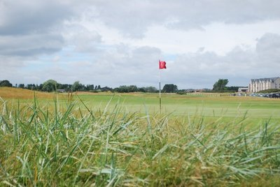 18th hole at Carnoustie ... just one of 100's of golf courses dotting the countryside
