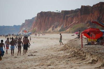 Vilamoura, Praia da Falesia, also a popular walking strip at low tide