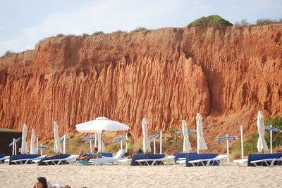 Vilamoura, Praia da Falesia, an example of the famous red cliffs