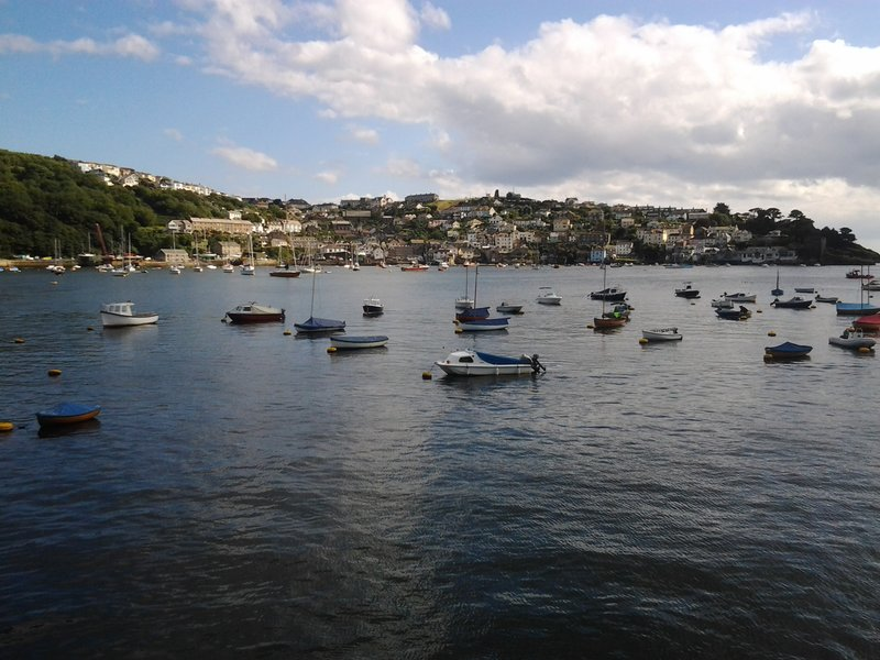 view from fowey