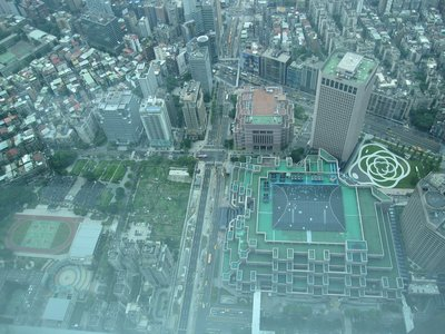 View from Observation Deck of Tapei 101
