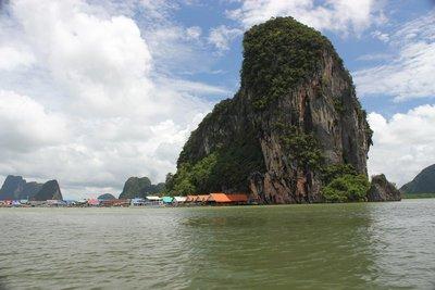 Floating town on Phang Nga Bay