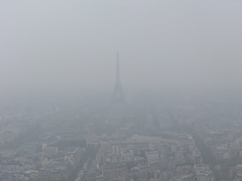 Eiffel Foggy Tower
