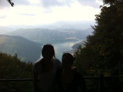 Our view down to Lake Lugano