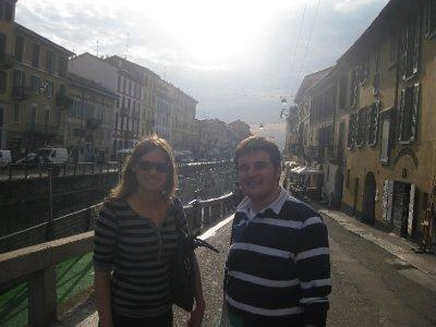 Katie and Mirkel wondering the streets of Milan