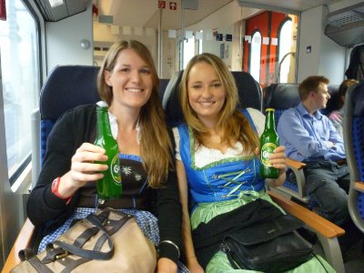 Let the Oktoberfest day begin with a train trip to Munich at 8am