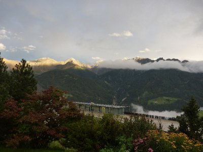 The view from Benny's house over the mountains after a rainy day was amazing! We loved the little Austrian villages