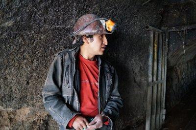 Miner in Potosi, Bolivia