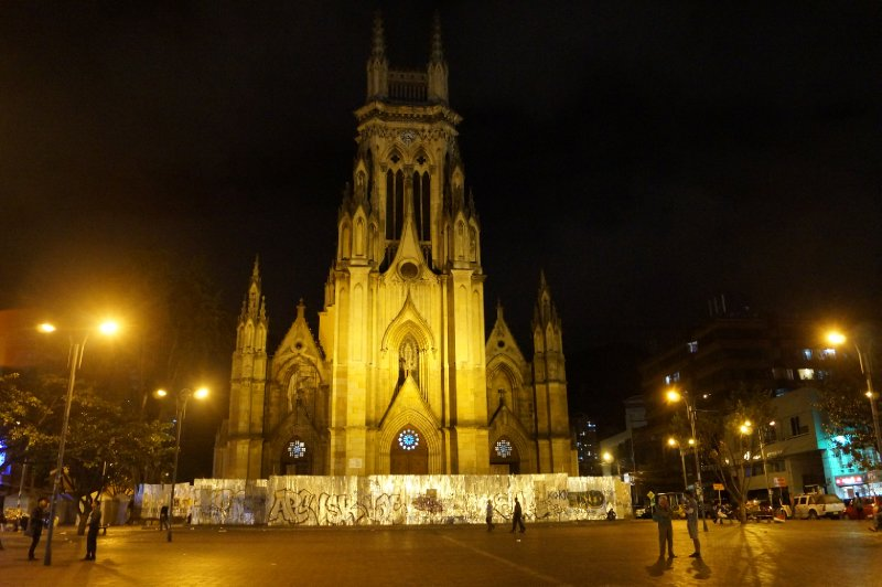 The Lourdes church in Bogotá