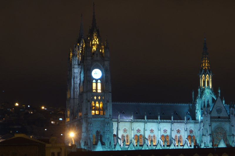 The Cathedral of Quito, by night