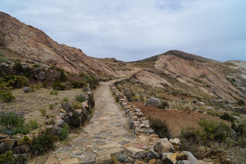 The inca path linked the south and north parts of the island