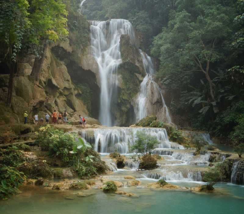 The Kuang Si Waterfall