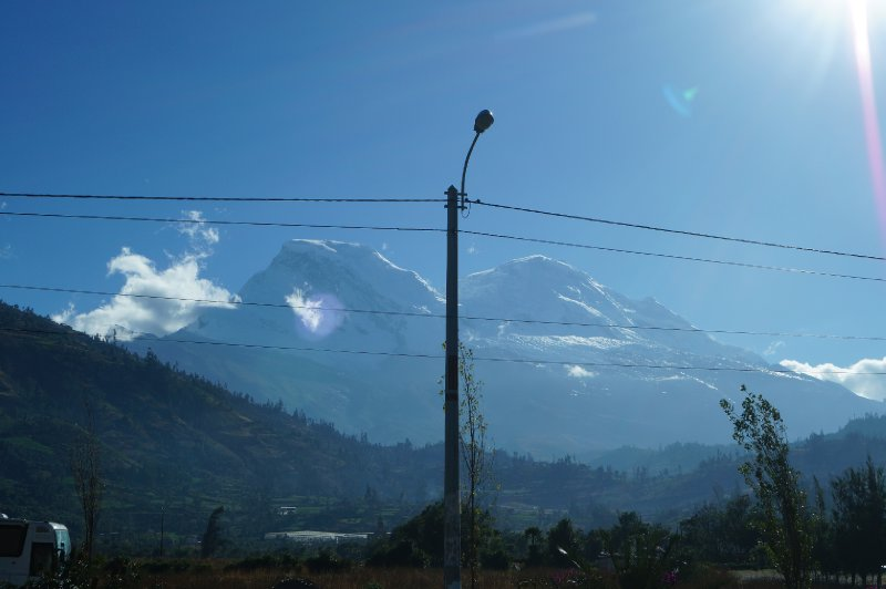 View of the Cordillera Blanca, from the bus