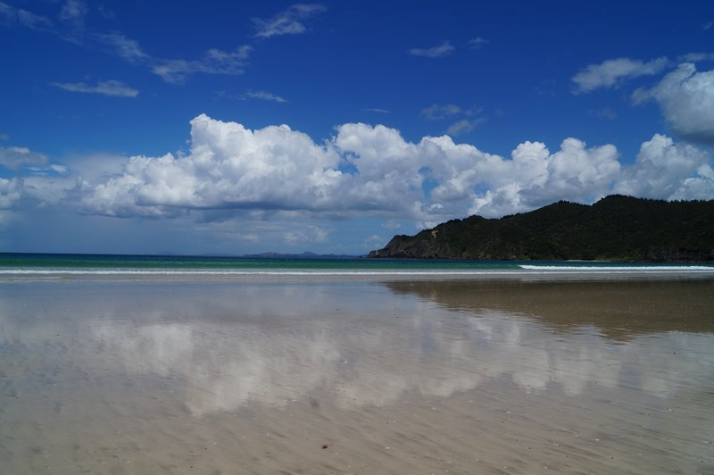 Reflections on Mataury Bay beach