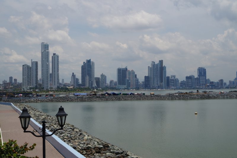 The finance area of Panama City