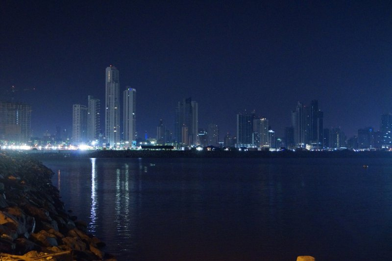 The new Panama City by night