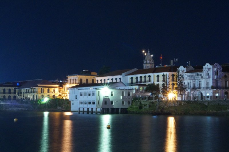 The old Panama City by night